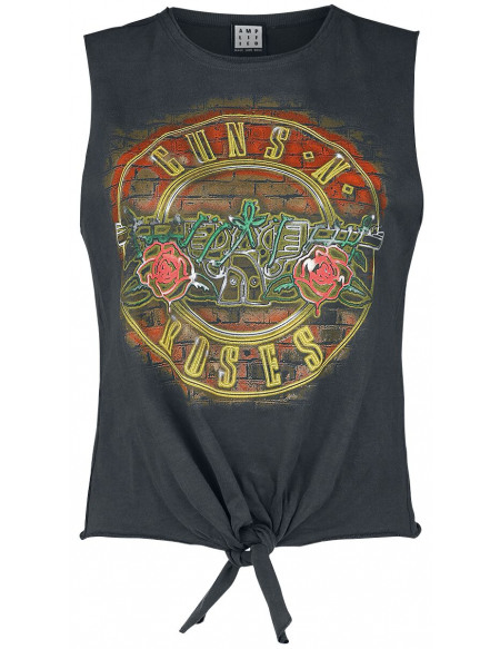 Guns N' Roses Amplified Collection - Neon Bullet Débardeur Femme anthracite