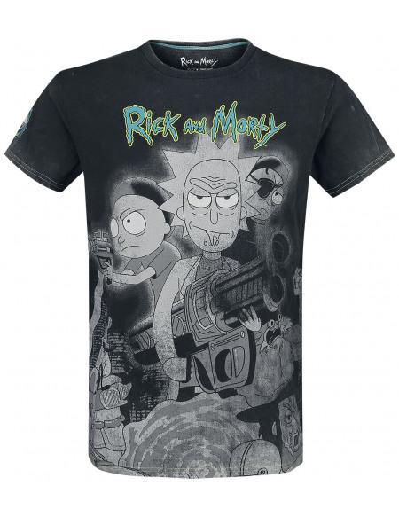 Rick & Morty Rick & Morty - Film T-shirt gris foncé