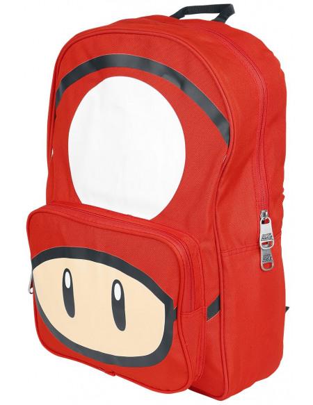 Super Mario Champignon Sac à Dos rouge