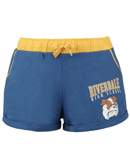 Riverdale Bulldogs Short Sexy Femme bleu/jaune
