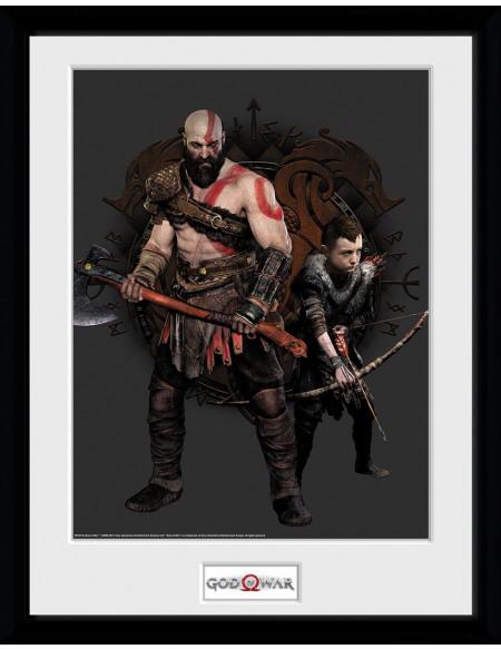God Of War Kratos Et Atreus Photo encadrée Standard
