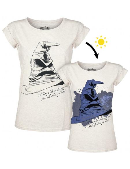 Harry Potter Le Choixpeau Magique - Serdaigle UV T-shirt Femme blanc