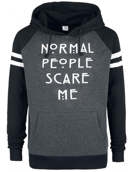 American Horror Story Normal People Scare Me Sweat à capuche chiné noir/gris