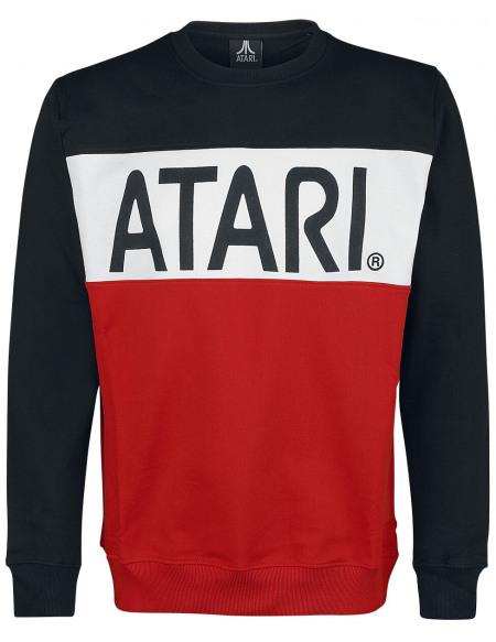 Atari Rétro Sweat-shirt noir/blanc/rouge