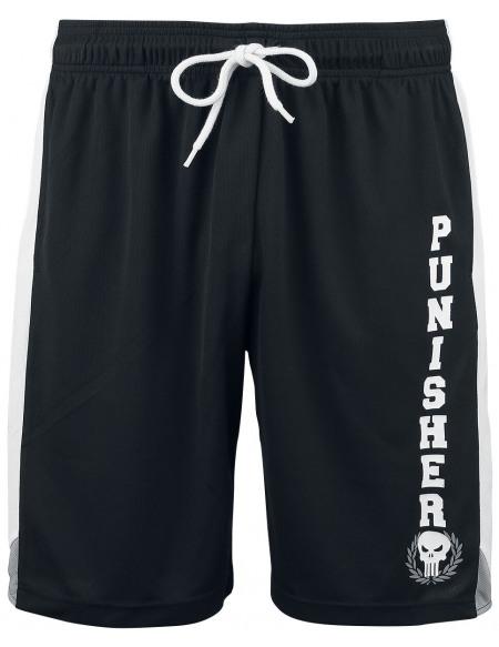 The Punisher Logo Short noir/blanc