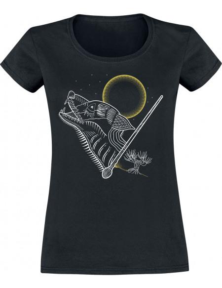 Harry Potter Loup-Garou T-shirt Femme noir