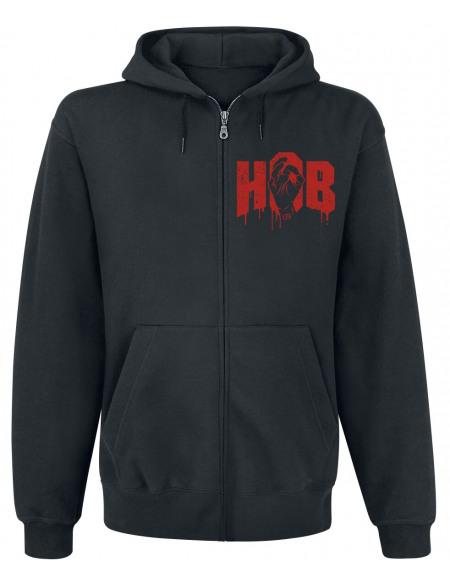 HandOfBlood Logo Sweat Zippé à Capuche noir