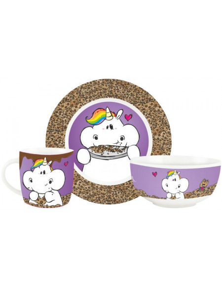 Chubby Unicorn Cookies Set petit déjeuner Standard