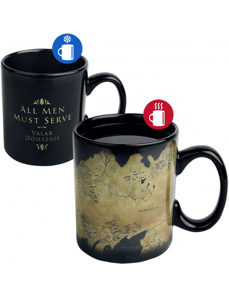 Game Of Thrones Carte De Westeros - Mug Thermoréactif Mug noir