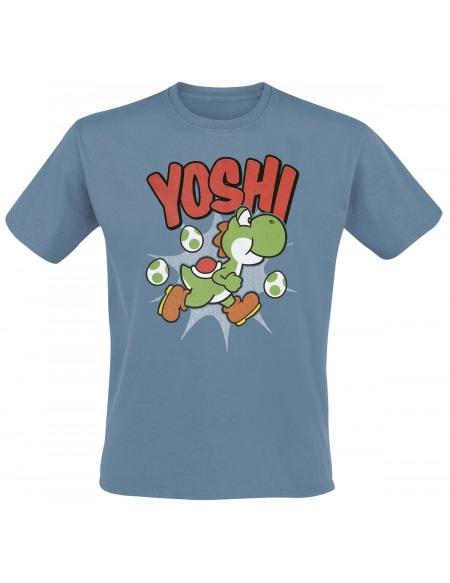 Super Mario Yoshi T-shirt bleu