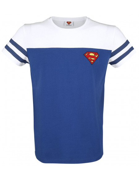 Superman Logo T-shirt bleu/blanc