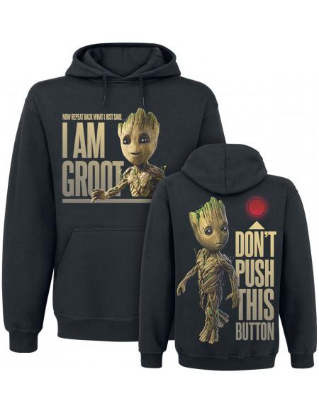 Les Gardiens De La Galaxie Les Gardiens de la Galaxie 2 - Groot - Button Sweat à capuche noir