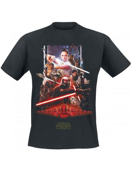 Star Wars Star Wars Épisode 9 - L'Ascension De Skywalker - Poster T-shirt noir