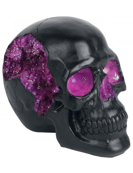Nemesis Now Crâne Geode Crâne décoratif noir