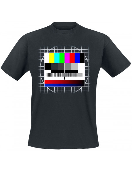 TV Test Pattern T-shirt noir