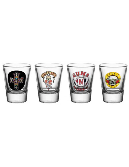 Guns N' Roses Mix Set verres à shots transparent