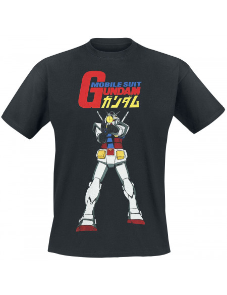Mobile Suit Gundam RX-78-2 T-shirt noir
