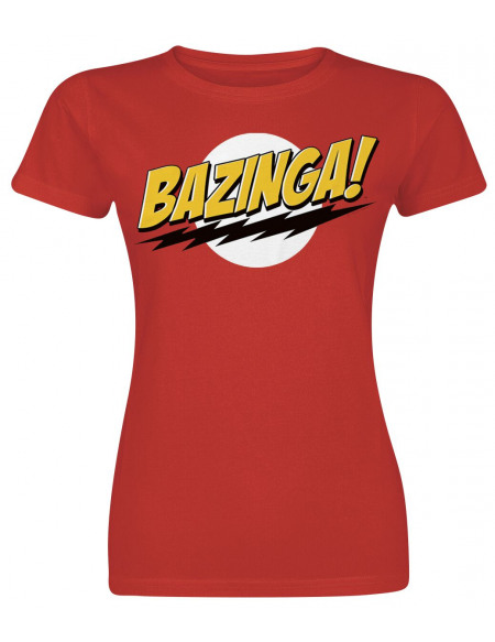 The Big Bang Theory Bazinga T-shirt Femme rouge