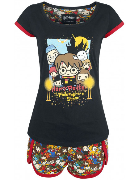 Harry Potter Chibi Allover Pyjama multicolore