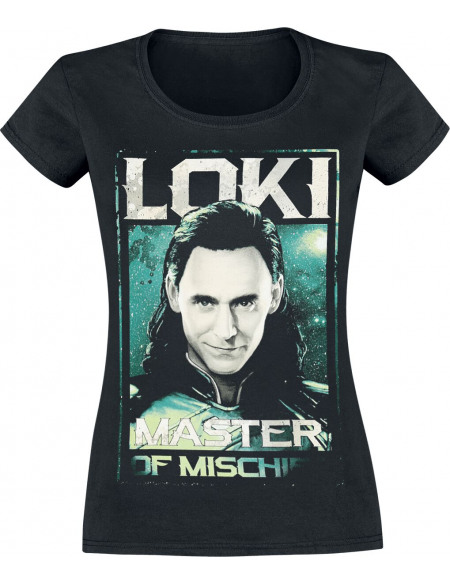 Thor Ragnarok - Loki - Master Of Mischief T-shirt Femme noir