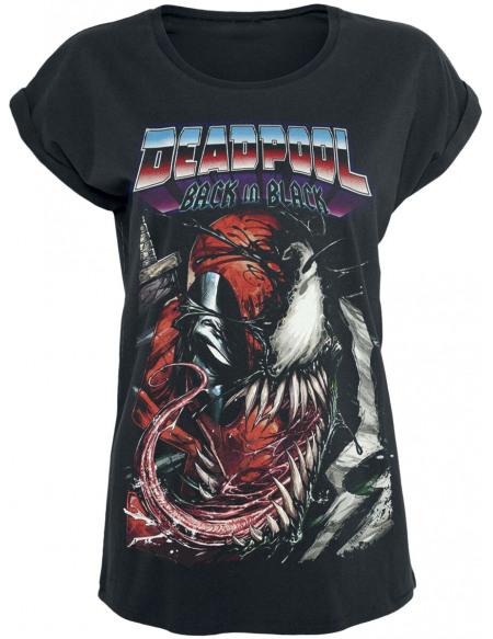 Deadpool Back In Black T-shirt Femme noir