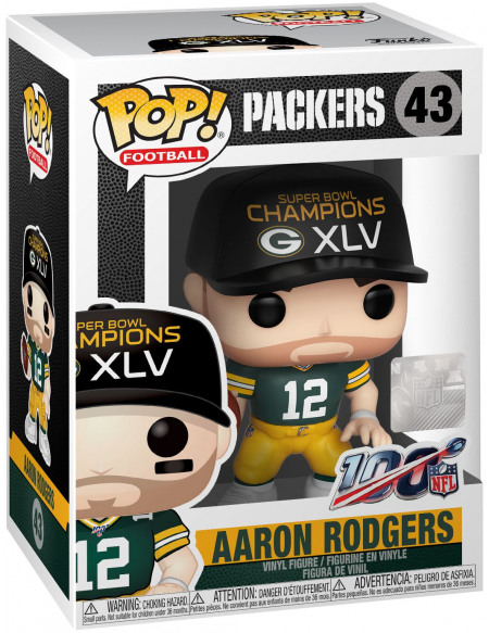 NFL Packers - Aaron Rodgers - Funko Pop! n°43 Figurine de collection Standard