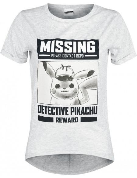Pokémon Détective Pikachu - Missing T-shirt Femme gris chiné