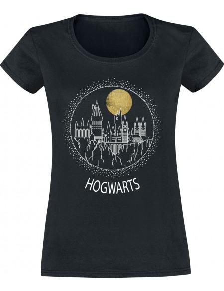 Harry Potter Poudlard Cercle T-shirt Femme noir