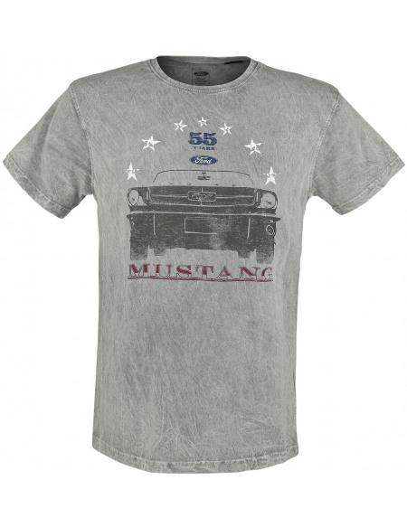 Ford Mustang - 55 Years T-shirt bleu/gris