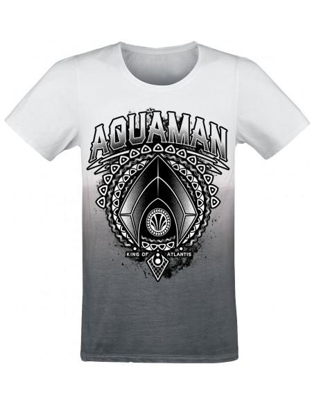 Aquaman King Of Atlantis T-shirt blanc/gris