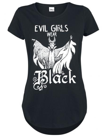 La Belle Au Bois Dormant Maléfique - Evil Girls Wear Black T-shirt Femme noir