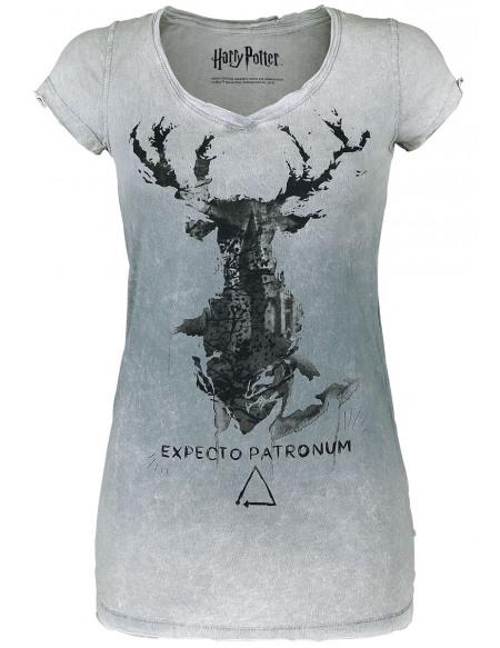Harry Potter Expecto Patronum T-shirt Femme gris clair