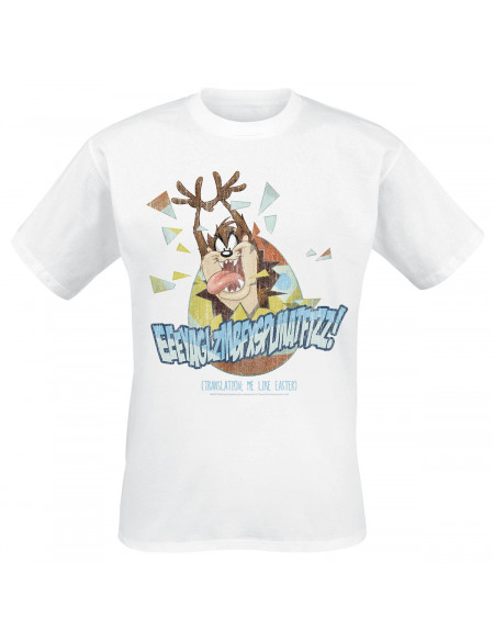 Looney Tunes Taz Me Like Easter T-shirt blanc