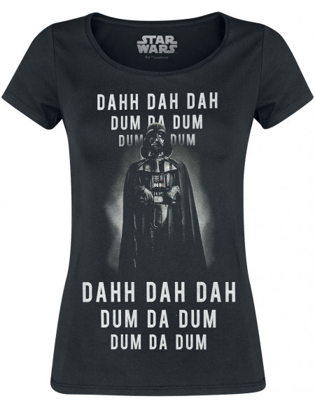 Star Wars Darth Vader - Dahh Dah Dah Dum Da Dum T-shirt Femme noir