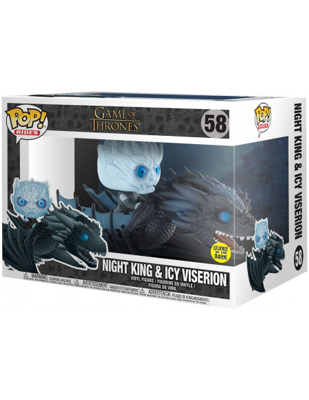 Game Of Thrones Le Roi de la Nuit & Viserion Glacé (Brille Dans le Nuit) - Funko Pop! n°58 Figurine de collection Standard