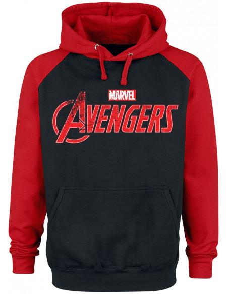 Avengers Logo Sweat à capuche noir/rouge