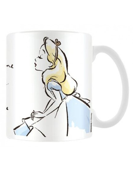 Alice Au Pays Des Merveilles Tea Time With Alice Mug blanc