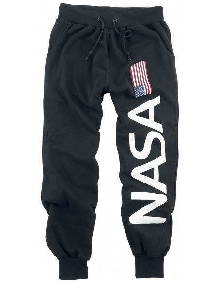 NASA Drapeau Et Logo Pantalon de Jogging noir