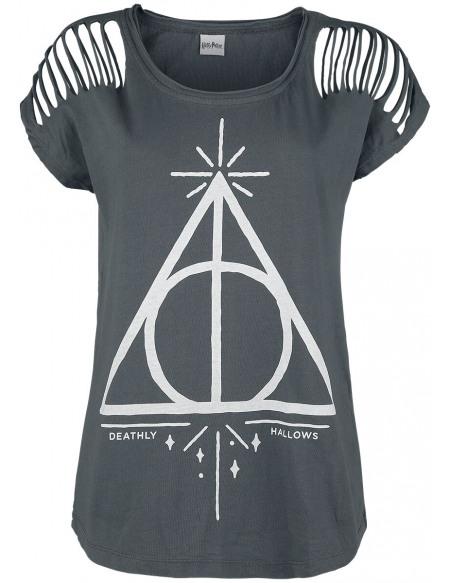 Harry Potter Master of Death T-shirt Femme gris