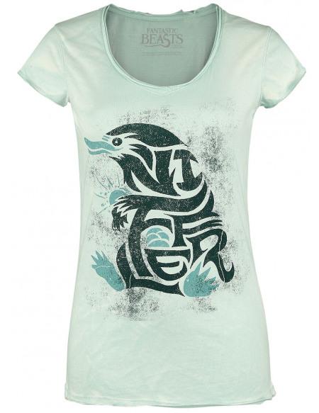 Les Animaux Fantastiques Logo Niffleur T-shirt Femme menthe