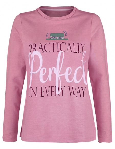 Mary Poppins Practically Perfect In Every Way Sweat-shirt Femme rose