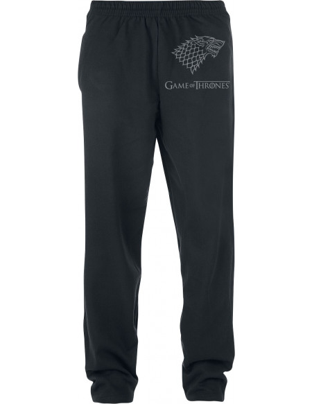 Game Of Thrones Maison Stark Pantalon de Jogging noir