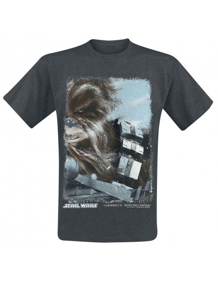 Star Wars Hot Encounter - Chewbacca T-shirt Gris anthracite chiné