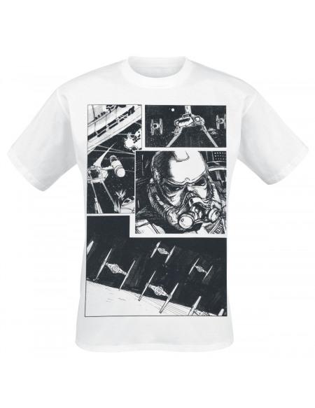 Star Wars Episode 4 - Comic T-shirt blanc