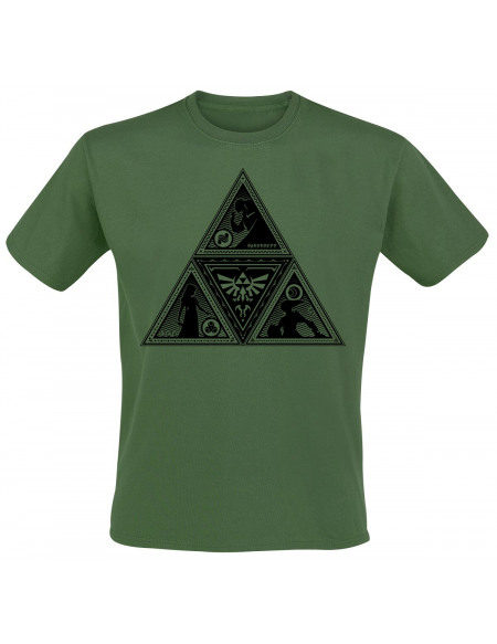 The Legend Of Zelda Triforce T-shirt vert foncé