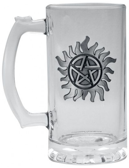 Supernatural Anti Possession Chope à bière transparent