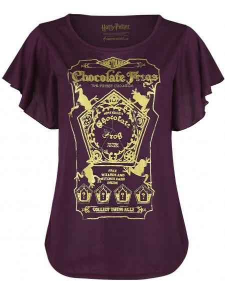 Harry Potter Chocogrenouilles T-shirt Femme aubergine