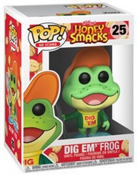Honey Smacks Figurine En Vinyle Dig em Frog (Ad Icons) 25 Figurine de collection Standard