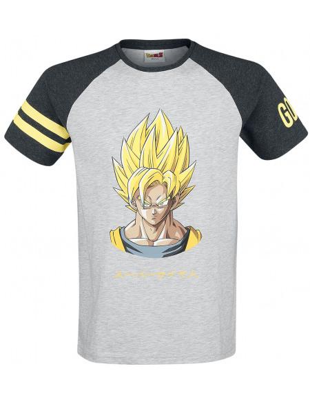 Dragon Ball Z Son-Goku T-shirt gris/noir/jaune