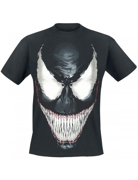 Venom (Marvel) Sourire T-shirt noir